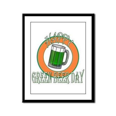 Happy Green Beer Day Framed Panel Print