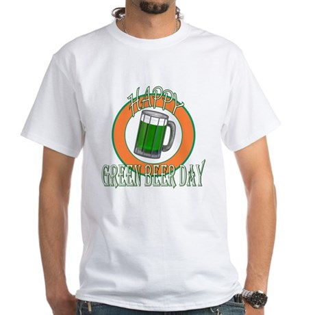 Happy Green Beer Day White T-Shirt