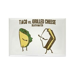 Taco VS Grilled Cheese Rectangle Magnet