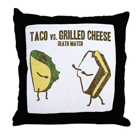 Taco VS Grilled Cheese Throw Pillow