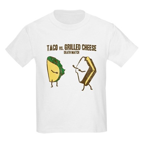 Taco VS Grilled Cheese Kids Light T-Shirt