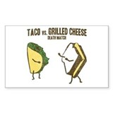 Taco VS Grilled Cheese Rectangle Decal