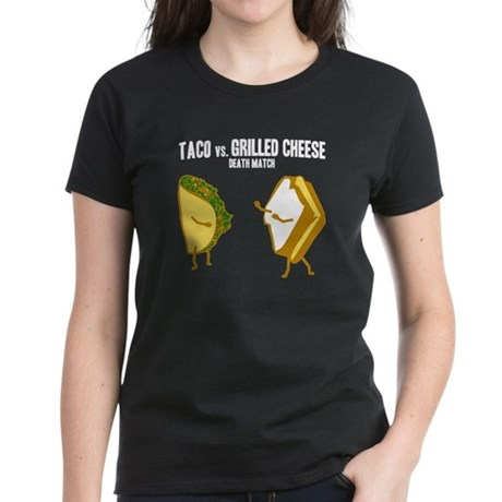 Taco VS Grilled Cheese Women's Dark T-Shirt