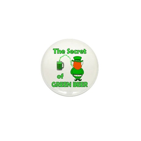 Funny Green Beer Mini Button (10 pack)