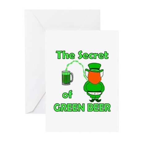 Funny Green Beer Greeting Cards (Pk of 10)