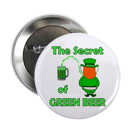 "Funny Green Beer 2.25"" Button (10 pack)"