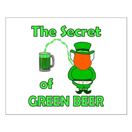 Funny Green Beer Small Poster