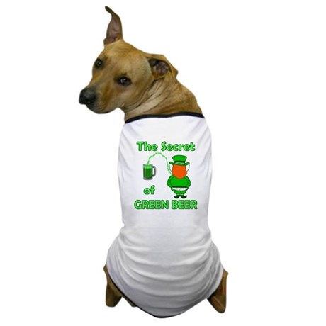 Funny Green Beer Dog T-Shirt