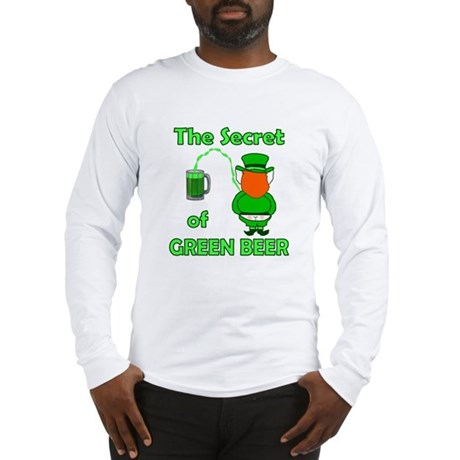 Funny Green Beer Long Sleeve T-Shirt