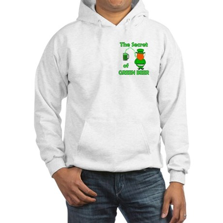 Funny Green Beer Hooded Sweatshirt