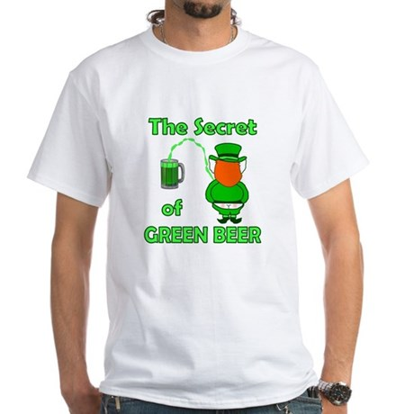 Funny Green Beer White T-Shirt