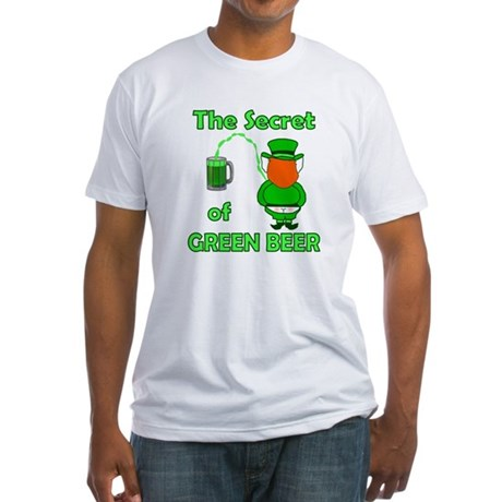 Funny Green Beer Fitted T-Shirt