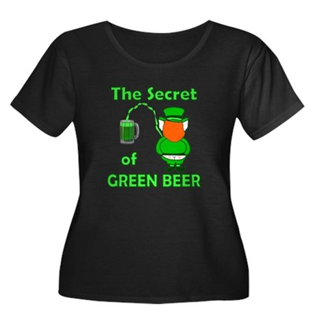 Funny Green Beer Women's Plus Size Scoop Neck Dark