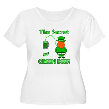 Funny Green Beer Women's Plus Size Scoop Neck T-Sh