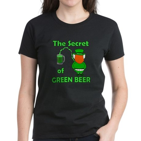 Funny Green Beer Women's Dark T-Shirt