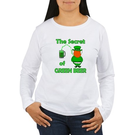 Funny Green Beer Women's Long Sleeve T-Shirt