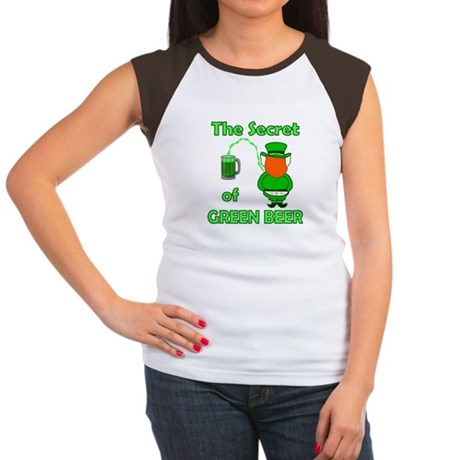 Funny Green Beer Women's Cap Sleeve T-Shirt