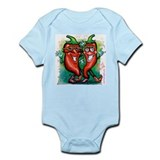 Unique Red hot chile Infant Bodysuit
