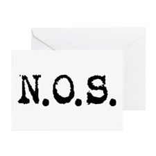 Nitrous Oxide / N.O.S. Greeting Cards (Pk of 10)