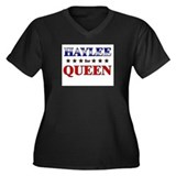 HAYLEE for queen Women's Plus Size V-Neck Dark T-S