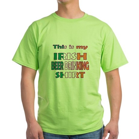 Funny Irish Beer Drinking Green T-Shirt