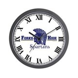 Forks High Spartans Wall Clock