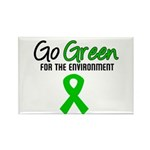 Go Green Rectangle Magnet (10 pack)