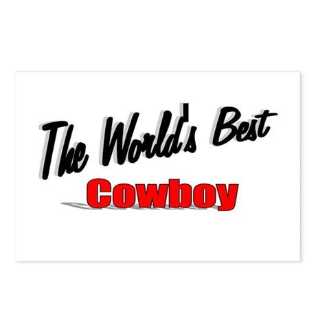 """ The World's Best Cowboy"" Postcards (Package of 8"