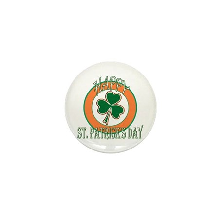 Happy St Patricks Day Shamrock Mini Button