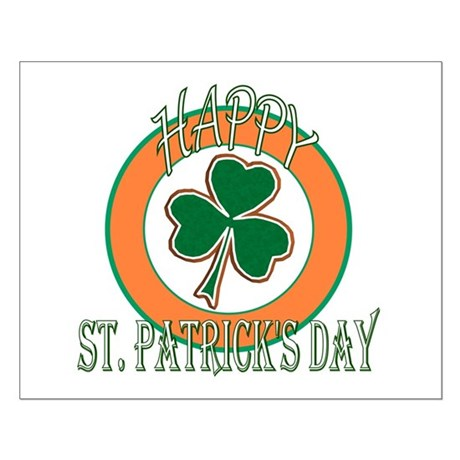 Happy St Patricks Day Shamrock Small Poster