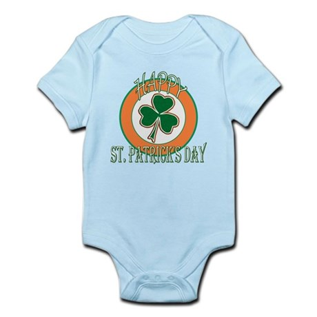 Happy St Patricks Day Shamrock Infant Bodysuit