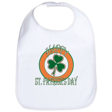 Happy St Patricks Day Shamrock Bib
