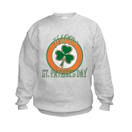 Happy St Patricks Day Shamrock Kids Sweatshirt