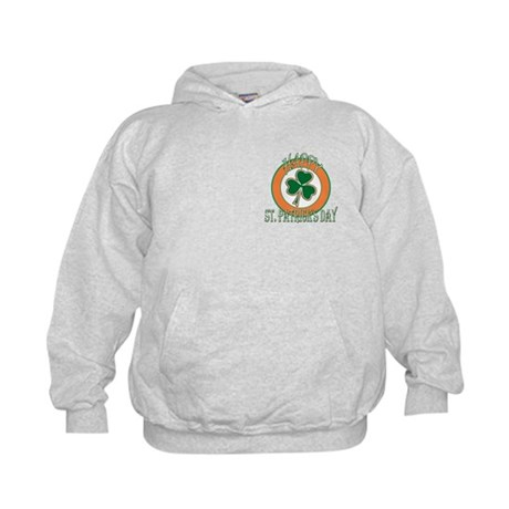 Happy St Patricks Day Shamrock Kids Hoodie