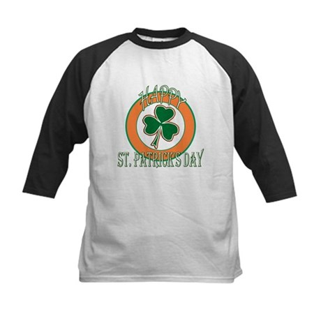 Happy St Patricks Day Shamrock Kids Baseball Jerse