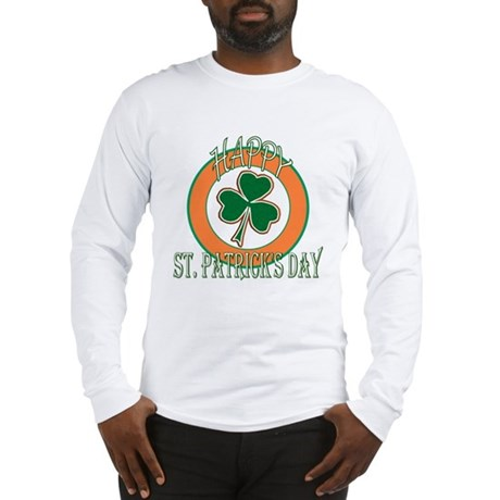 Happy St Patricks Day Shamrock Long Sleeve T-Shirt