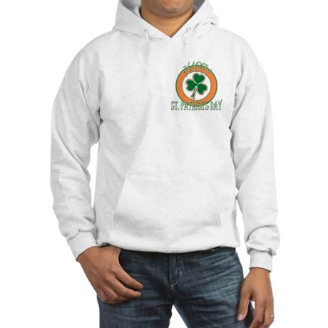 Happy St Patricks Day Shamrock Hooded Sweatshirt