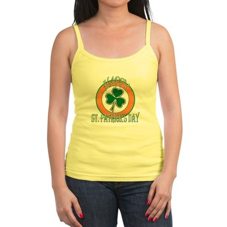 Happy St Patricks Day Shamrock Jr. Spaghetti Tank