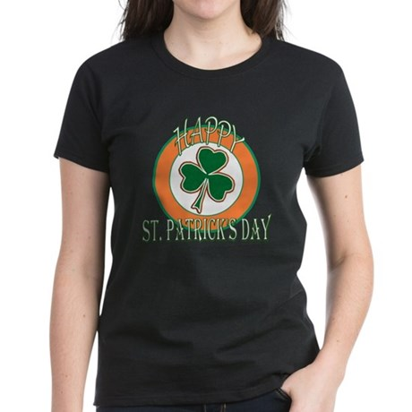 Happy St Patricks Day Shamrock Women's Dark T-Shir