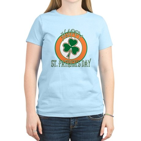 Happy St Patricks Day Shamrock Women's Light T-Shi
