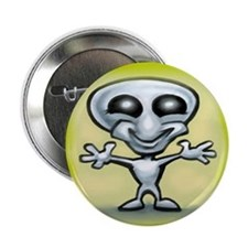 "Cute Alien abduction 2.25"" Button (10 pack)"