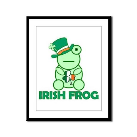 Irish Leprechaun Frog Framed Panel Print