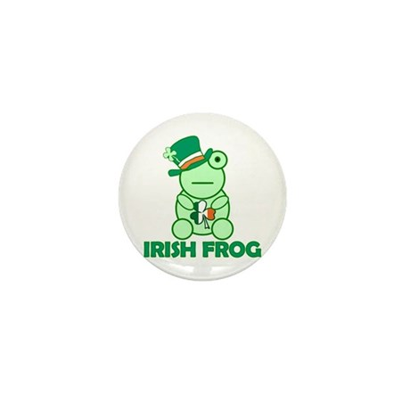 Irish Leprechaun Frog Mini Button (10 pack)