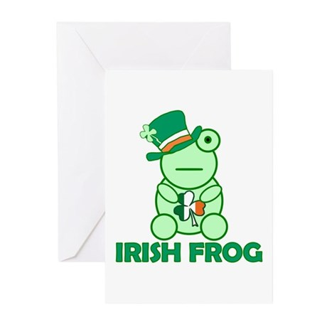 Irish Leprechaun Frog Greeting Cards (Pk of 10)
