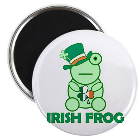 "Irish Leprechaun Frog 2.25"" Magnet (10 pack)"