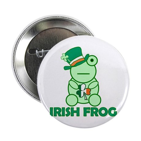 "Irish Leprechaun Frog 2.25"" Button"