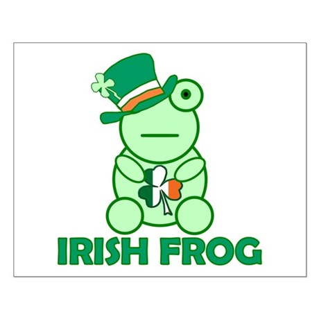 Irish Leprechaun Frog Small Poster