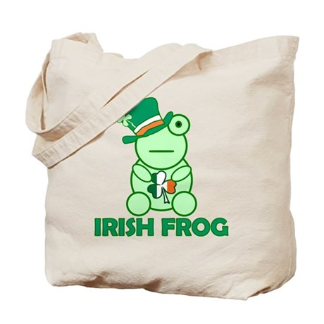 Irish Leprechaun Frog Tote Bag