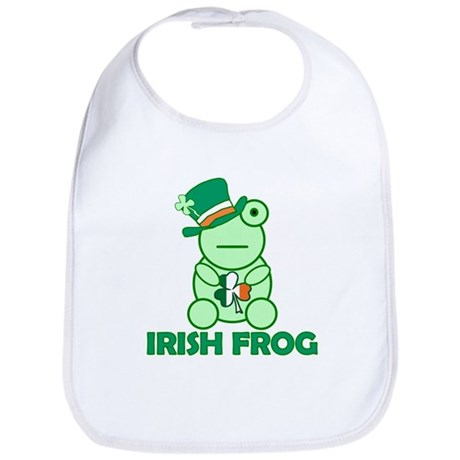Irish Leprechaun Frog Bib