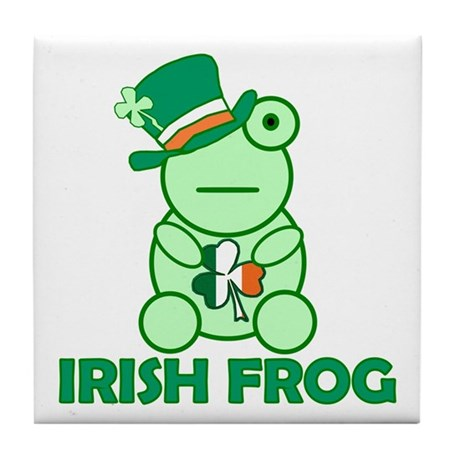 Irish Leprechaun Frog Tile Coaster